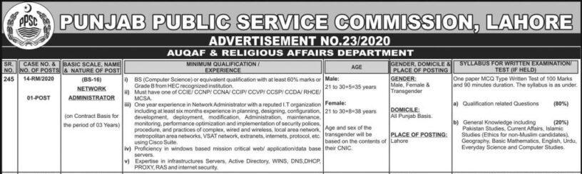 PPSC Latest Jobs 2021
