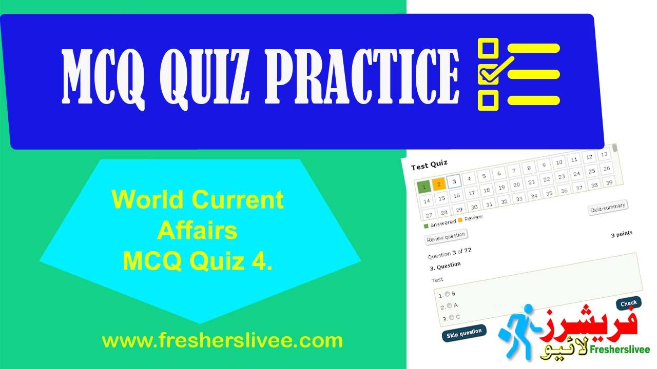 World Current Affairs MCQ Quiz