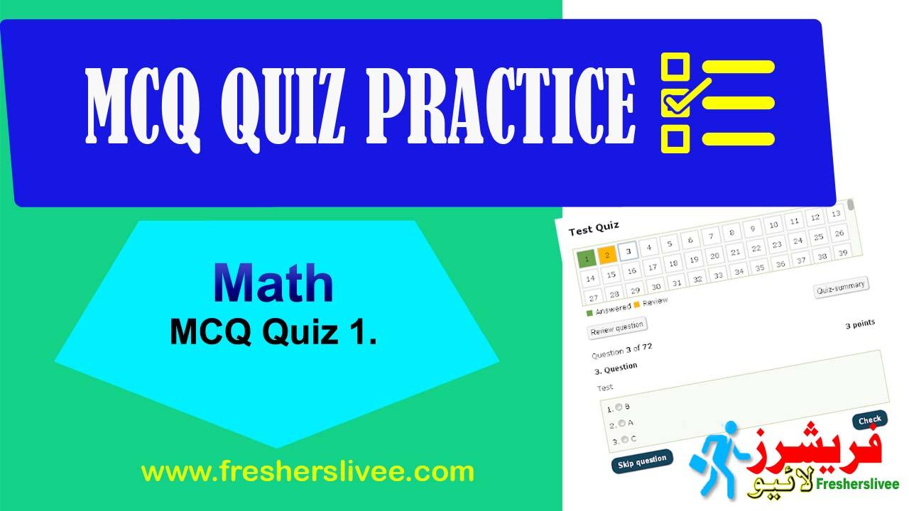 Online MCQs Test Math