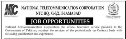 NTC National Telecommunication Corporation Jobs