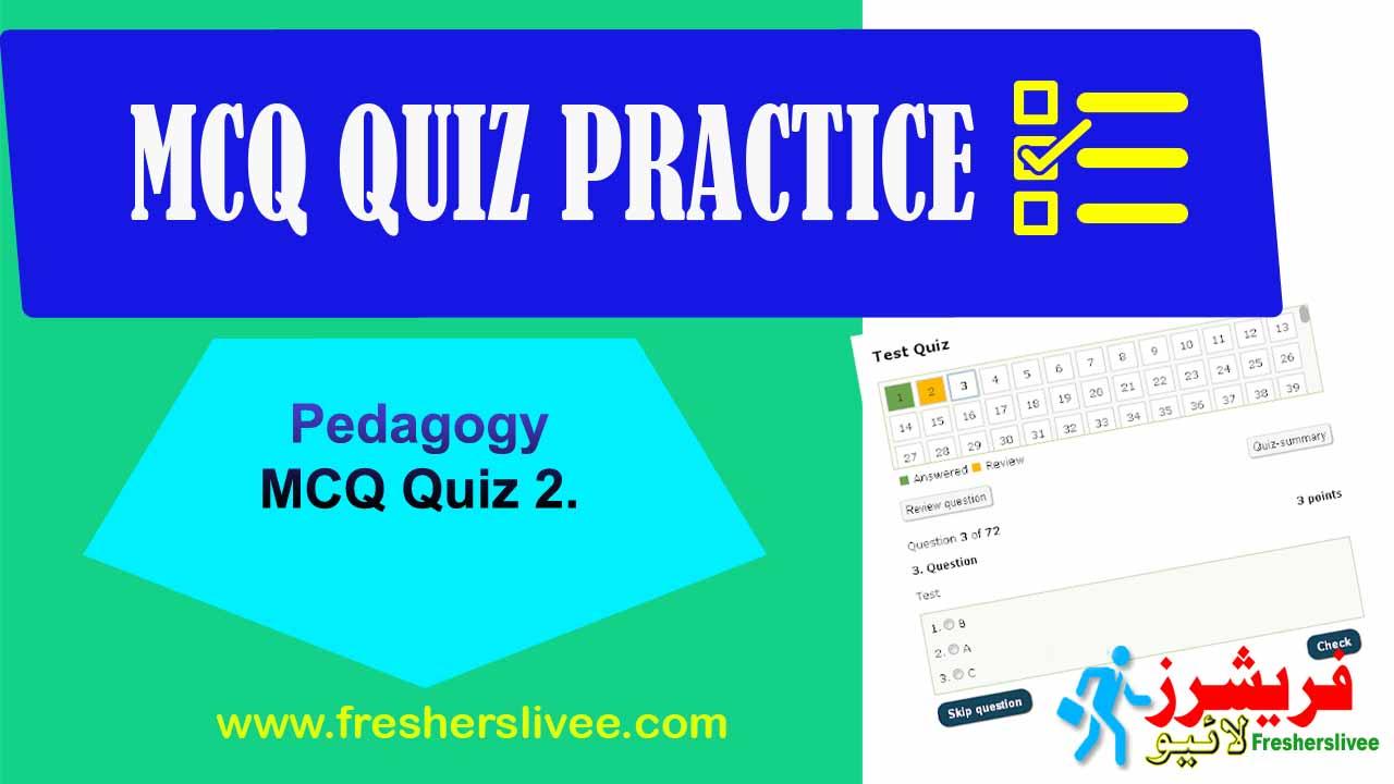 Online MCQs Test Padagogy