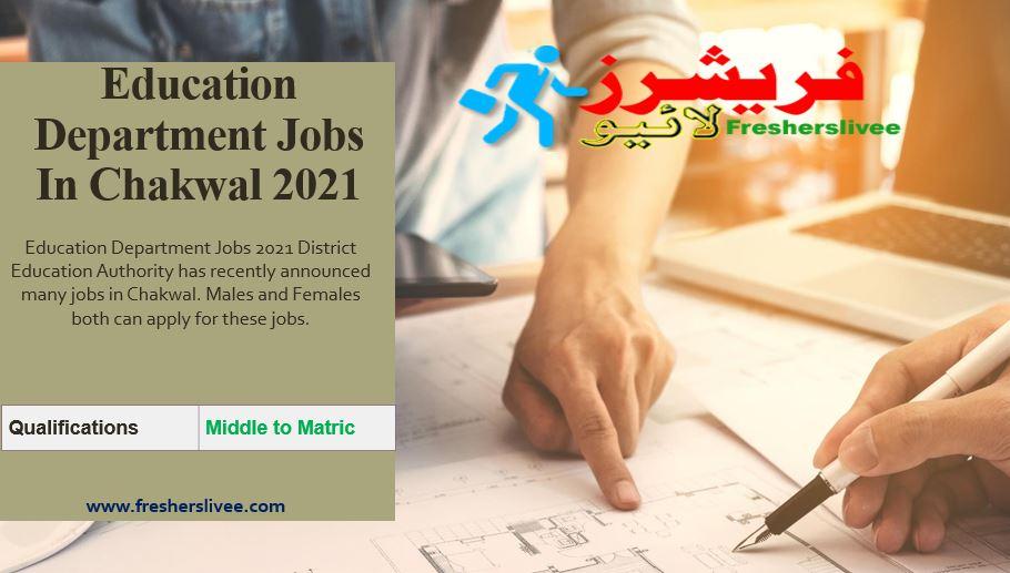 Education Department Jobs 2021