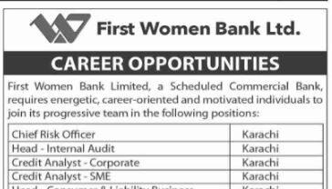 First Women's Bank Jobs