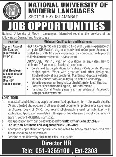 National University Jobs