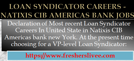 Loan Syndicator Careers