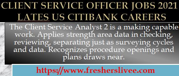Client Service Officer Jobs