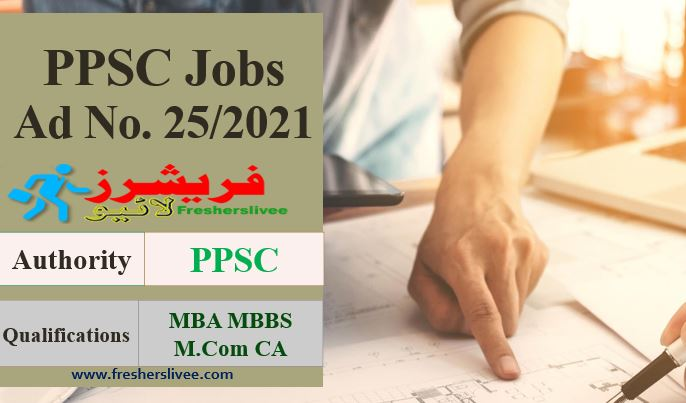 PPSC Advertisement 25/2021