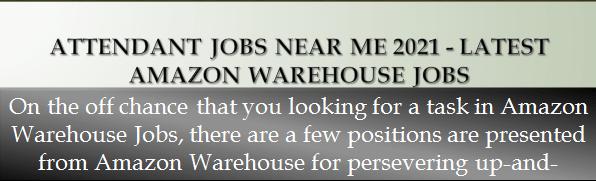 Attendant Jobs