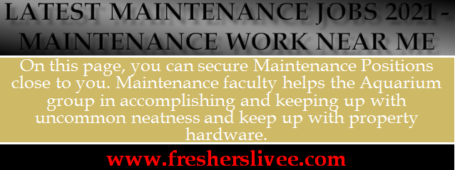 Maintenance Jobs