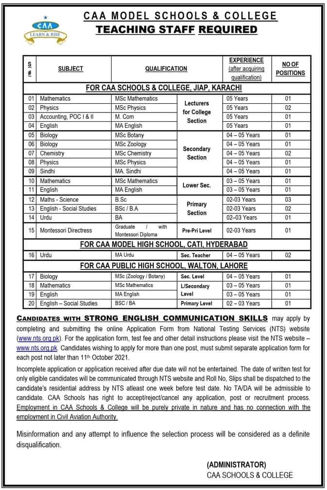 Civil Aviation Authority Jobs