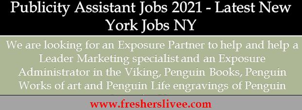 Publicity Assistant Jobs